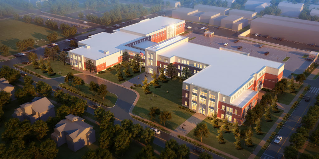 rendering of new HMS building