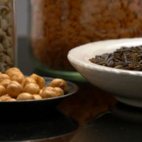 High Fiber Grains, Shop With The Doc, photo of bowls of rice and chickpeas