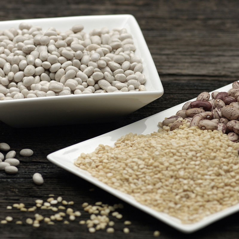 High Fiber Legumes, Shop With The Doc, photo of beans in bowls