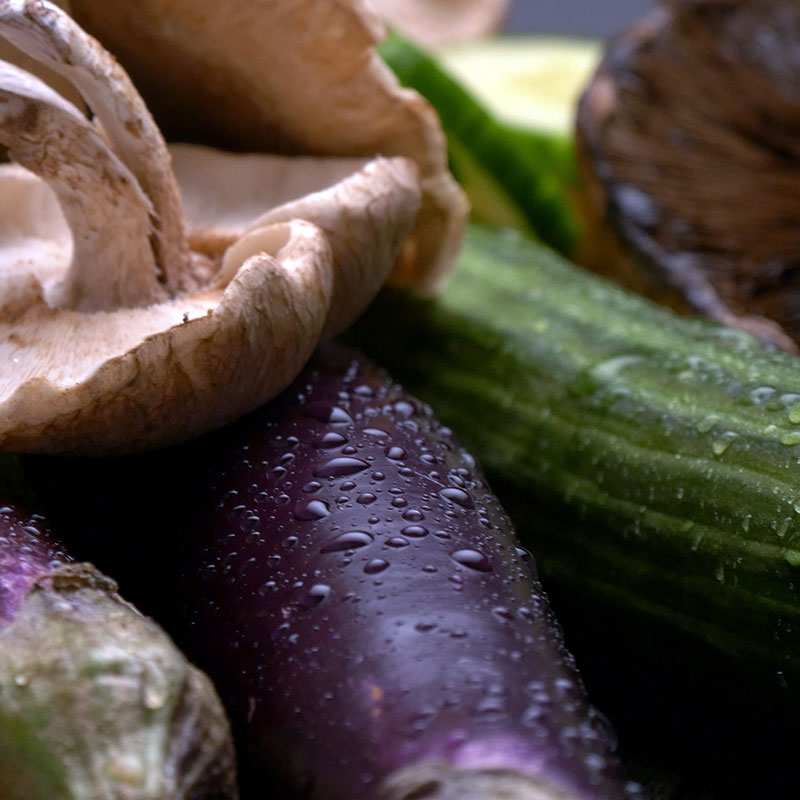 Sturdy Vegetables, Shop With The Doc, photo of zucchini and mushrooms
