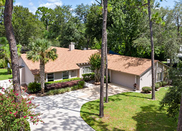 aerial photo of a home in the springs in longwood fl