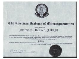 American Academy of Micropigmentation | Marcia Renner