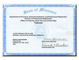 License | State of Missouri