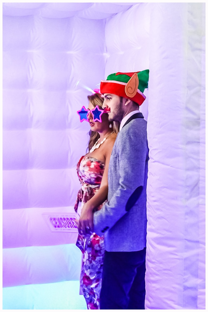Couple inside Party Cube