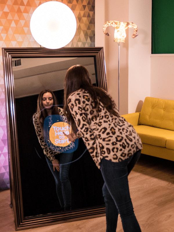 Woman using Magic Mirror