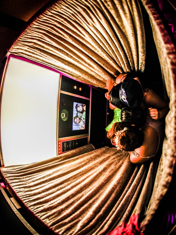 Interior view of Photo Booth Classic Model