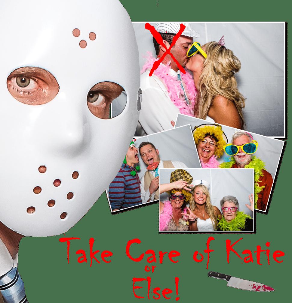 Jason mask giy in photo booth