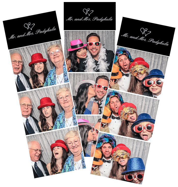 Three photo strip prints from Party Classic