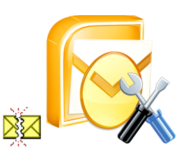 outlook icon and wrench solution fix