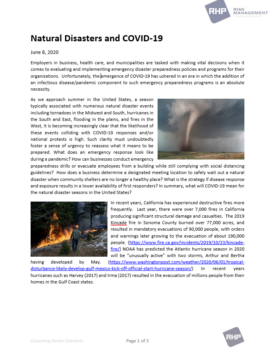 Cover_Natural Disasters and COVID-19