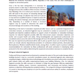 Cover_Post-Fire Structural Damage Assessments and Remediation