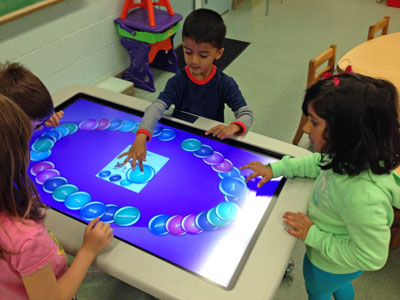 Our littlest learners on our smart table