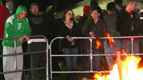 Penguin Productions is inviting students to welcome the cool, fall weather at Fall Fire Fest — a bonfire, concert, and pep rally next Thursday night. photo Courtesy of Penguin Productions.
