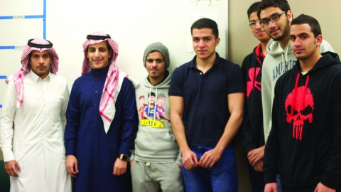 Students of the English Language Institute and Saudi Aramco. Photo by Alyssa Pawluk/ The Jambar.