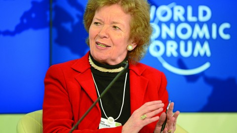 Mary Robinson, the first female president of Ireland, speaks at the 2013 annual meeting of the World Economic Forum in Davos, Switzerland. Robinson will speak at TED Women on May 27-29 about living a goal-oriented life. Photo courtesy of CC By -SA 2.0.