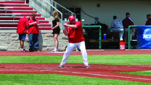 The Youngstown State University baseball team is 5-15 so far this season. Head coach Steve Gillispie thinks the team will become more consistent after members of the team recover from injuries in the next couple of weeks. Photo courtesy of YSU Sports Information.
