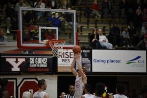 Brett Frantz (15) grabs a rebound off a CSU missed jumper.