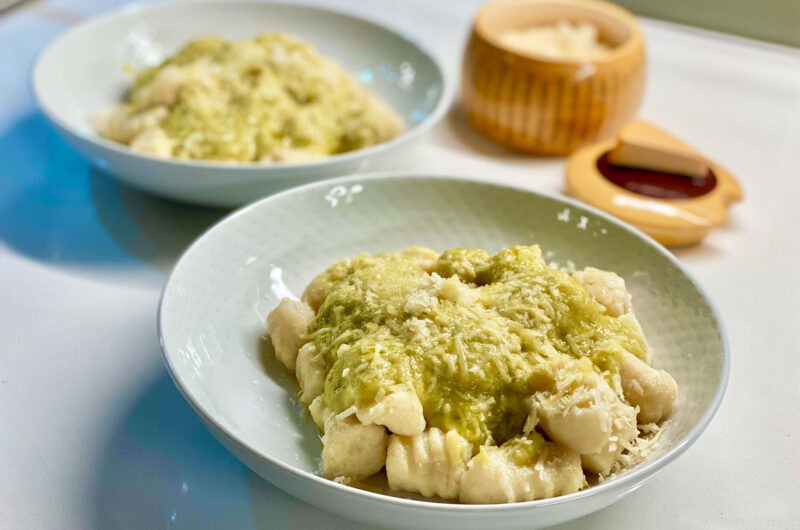 Potato Gnocchi with Creamy Leek Sauce