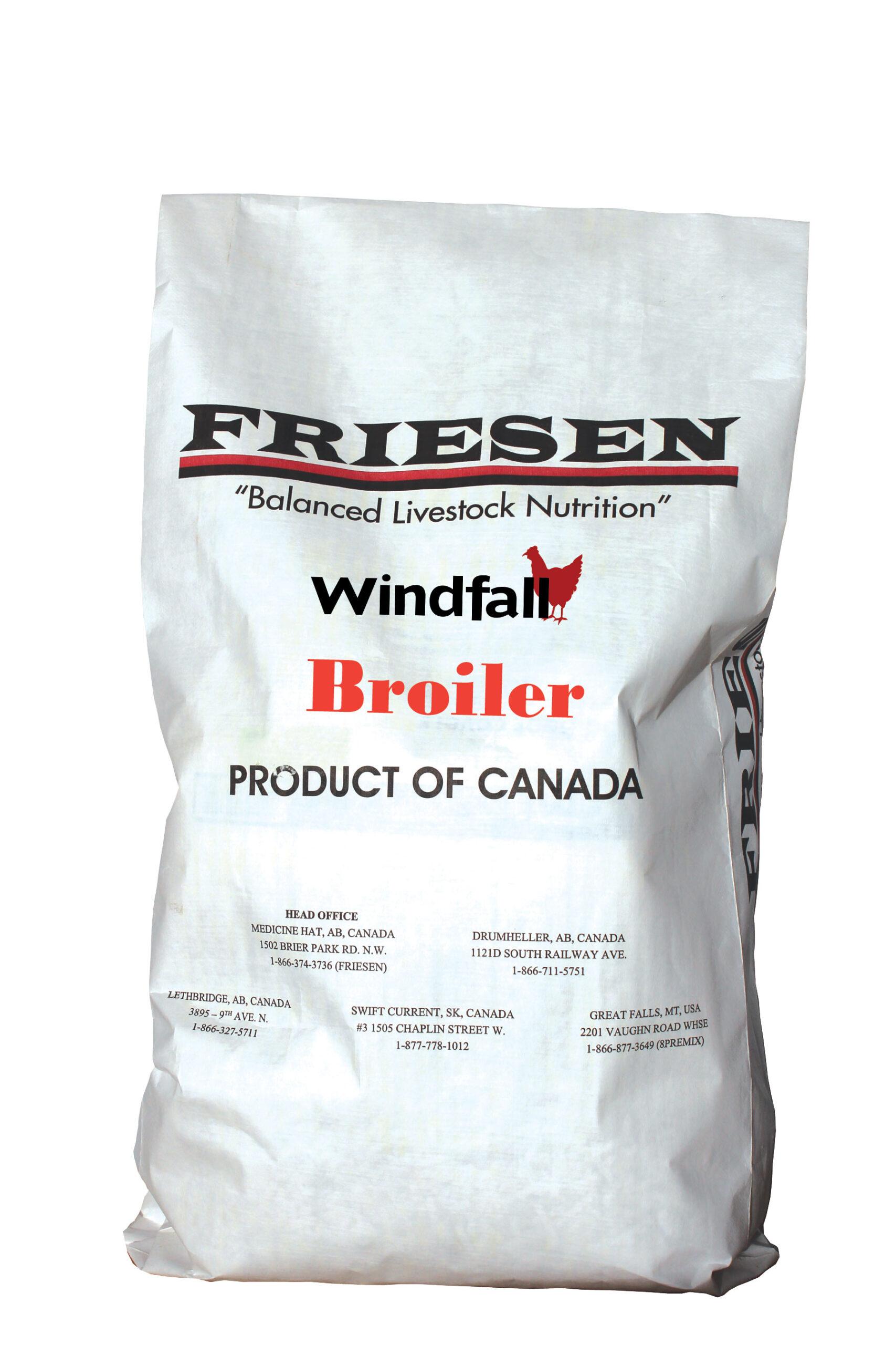 Friesen Nutrition windfall macro broiler