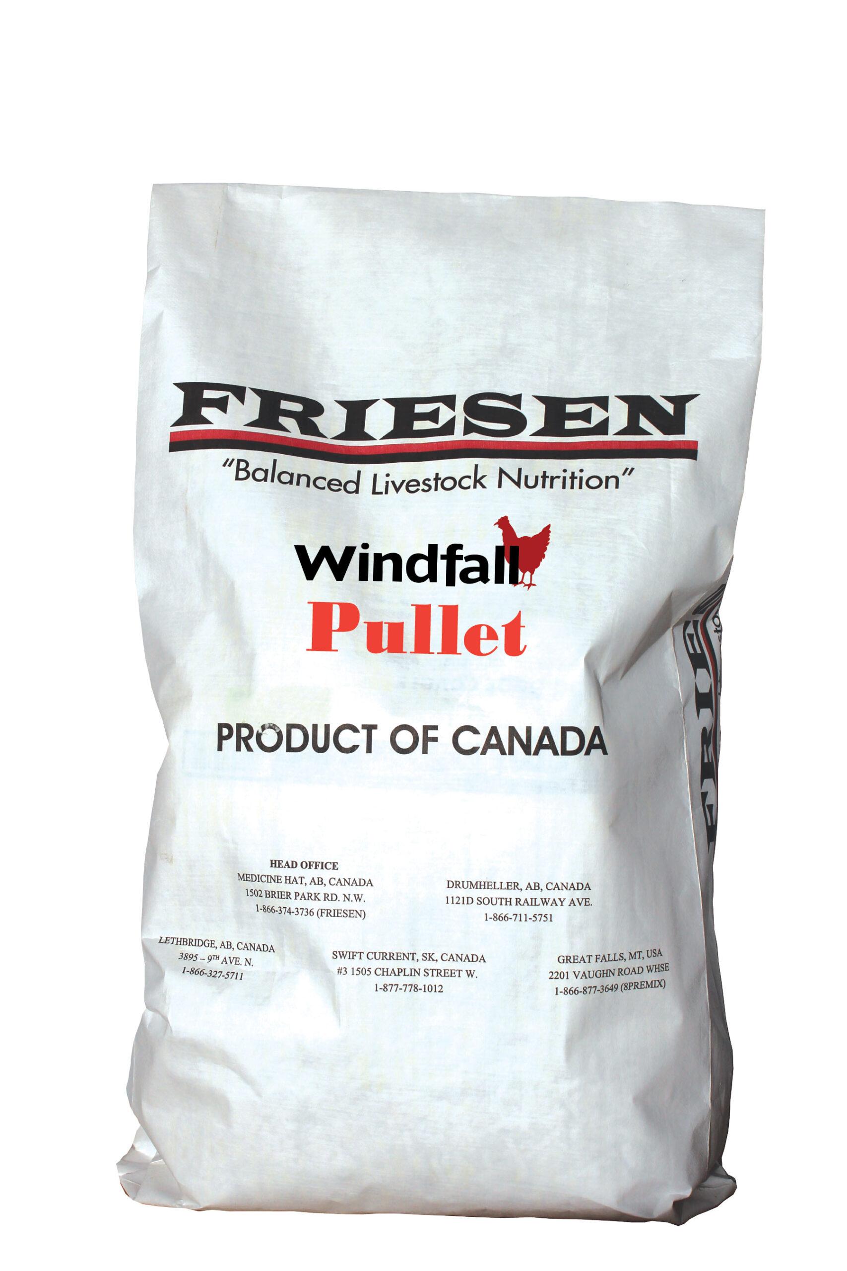 Friesen Nutrition windfall macro pullet