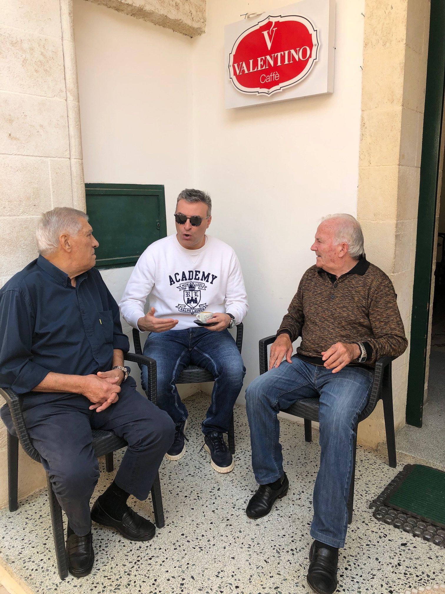 Friends from Ruffano, Italy