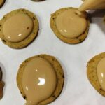 Glaze the cookies