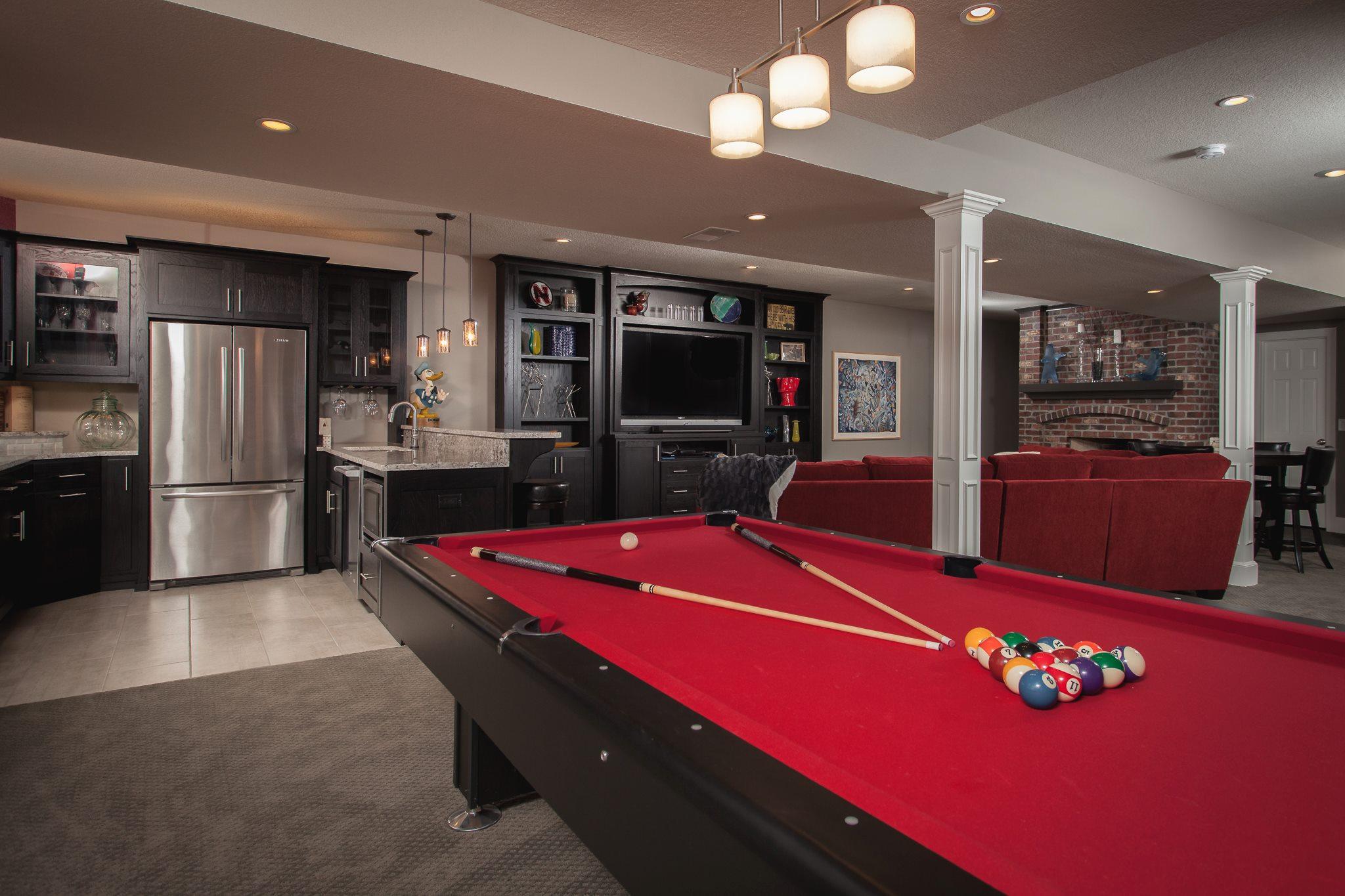 basement game room kitchen bar