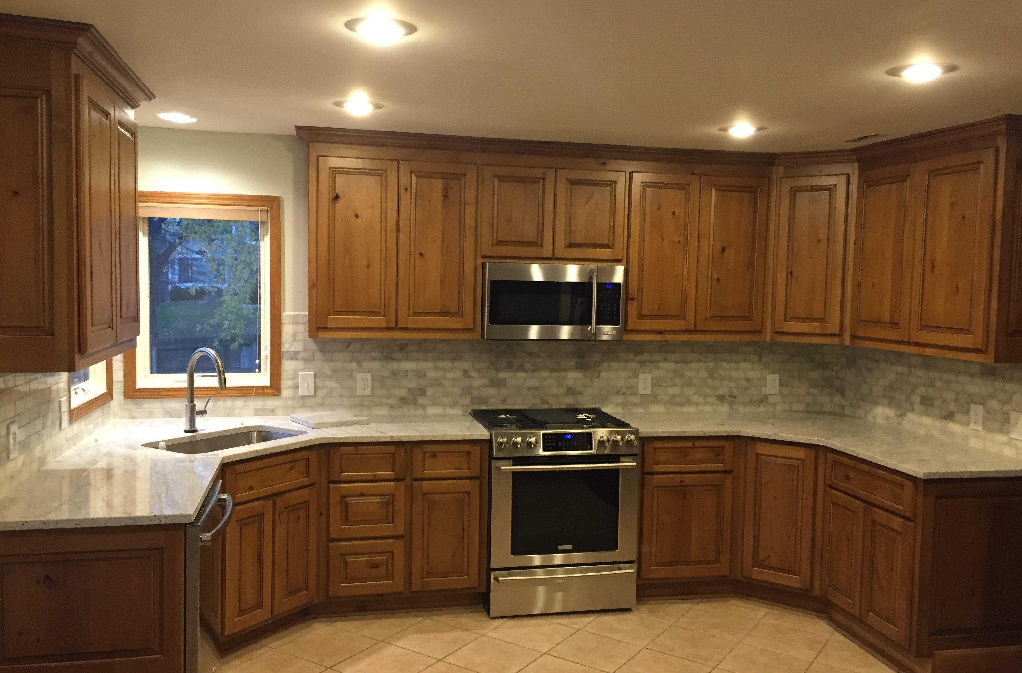 cabinets countertops and backsplash