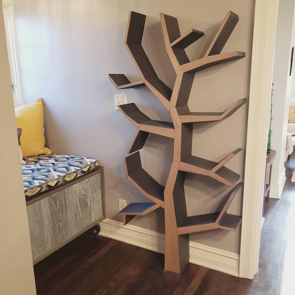 functional art tree bookshelf