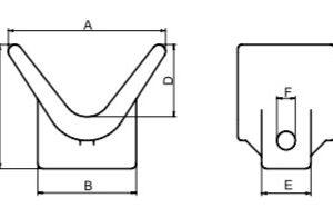 AutoFlex Knott V Bow Stop Block 3″x 3-3/4″ Blue