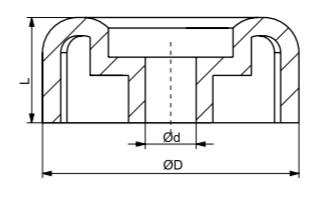 Autoflex Knott 3″ Blue End Cap