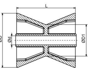 Autoflex Knott Bow Roller 4″ Blue