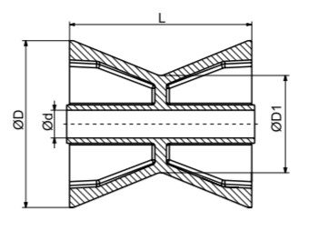 AutoFlex Knott Bow Roller 3.5″ Black