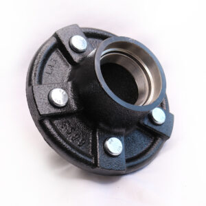 "AutoFlex Knott 5"" x 5 Bolt Hub with Bearings – Black"