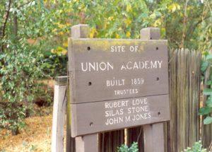 Union Academy Marker