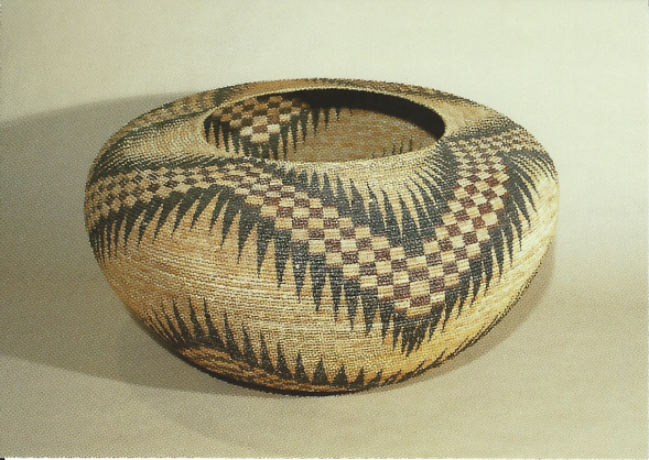 "Miwok-Paiute basket by Lucy Telles, 36"" in diameter, 1930-1933"