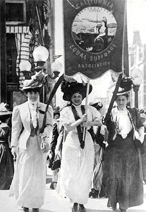 Oakland Suffrage Parade in 1908