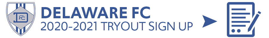 Delaware FC Tryouts Sign Up - Player Interest Form, 2020-2021
