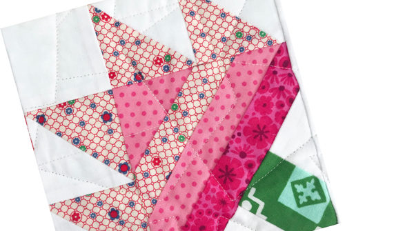 Geranium Quilt Block | Sew Hometown by Inspiring Stitches