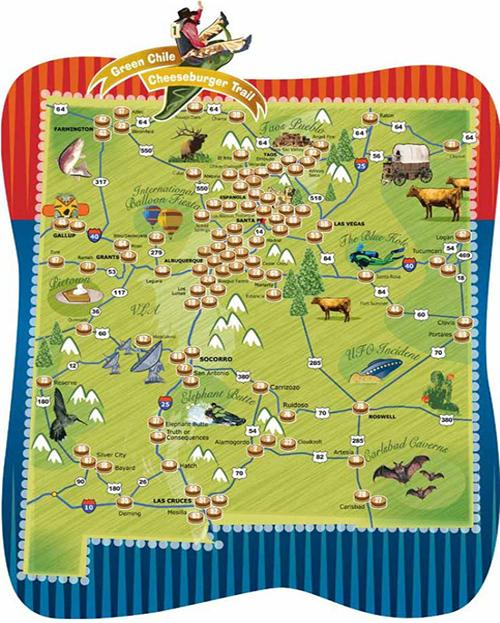 Green Chili Trail Map