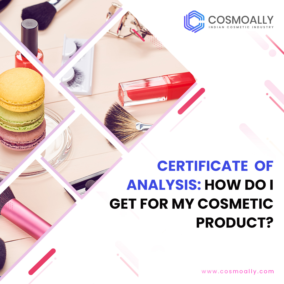 How do I get Certificate of Analysis for my cosmetic product?