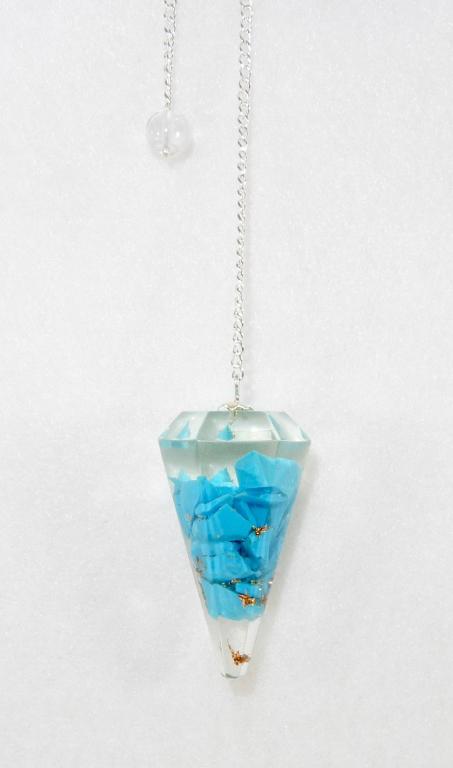 Orgone Resin Pendulum Turquoise