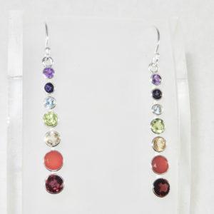 Chakra Earrings Gemstones