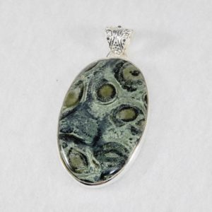 Star Galaxy Jasper Long Oval Pendant