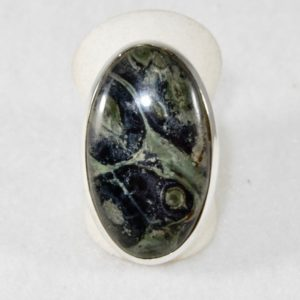 Star Galaxy Jasper Oval Ring - Size 7.5
