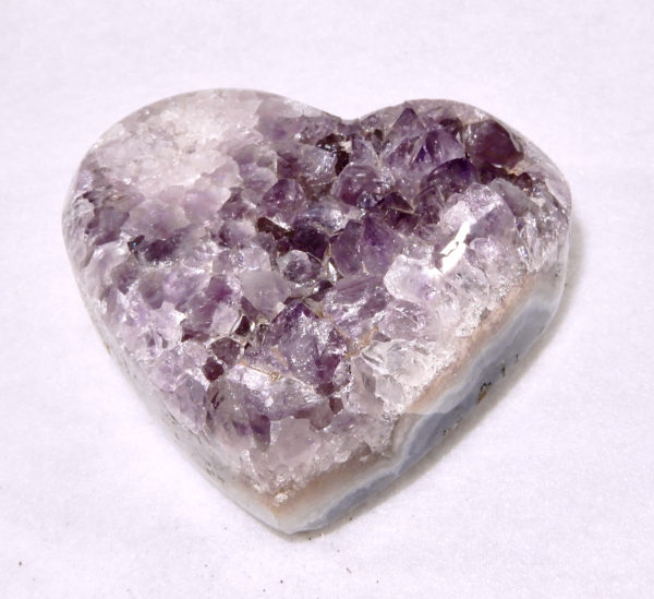 Amethyst Puffed Heart Large
