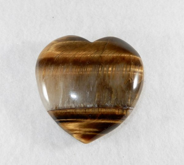 Tiger Eye Puffed Heart