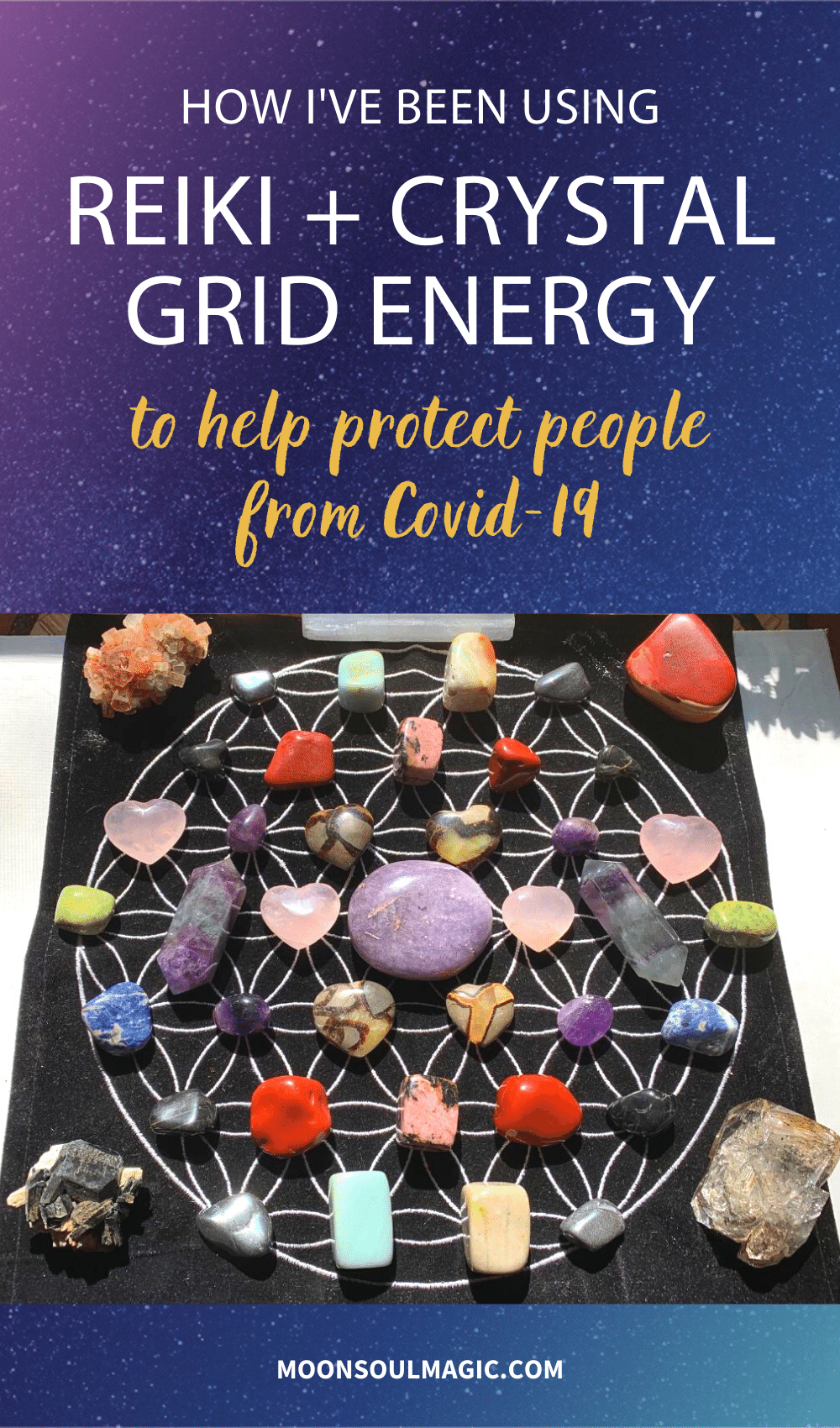 How I've Been Using Reiki + Crystal Grid Energy to Help Protect People From COVID-19
