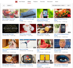 HowToBasic's newest videos show a wide variety of parody 'How To' videos, all with many views