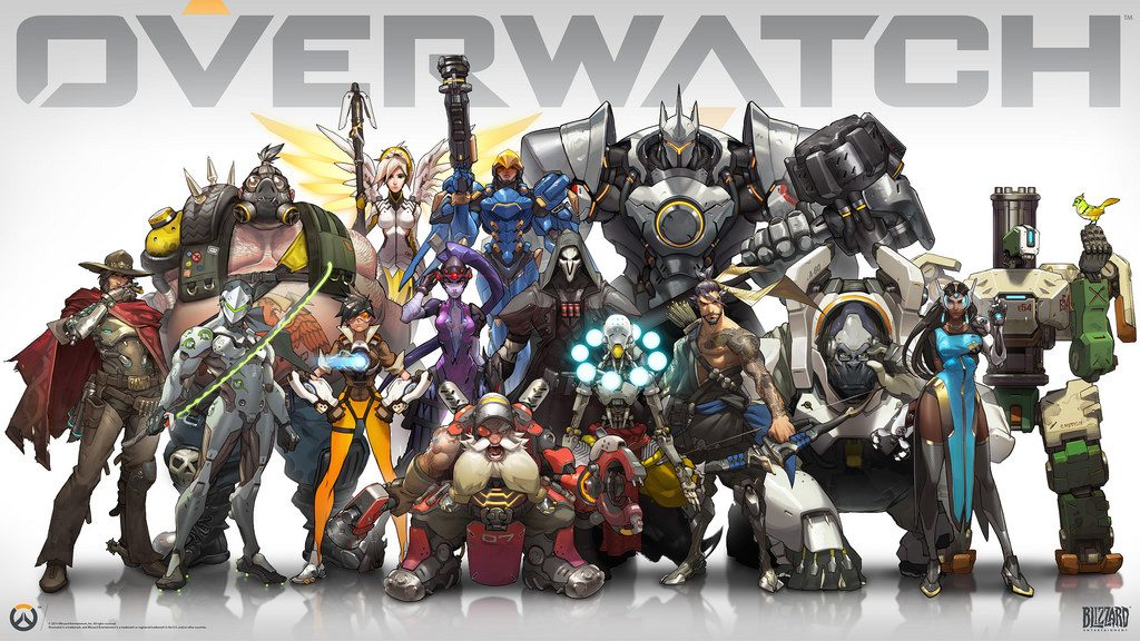 The characters from Overwatch